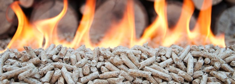 A type of pellet burning